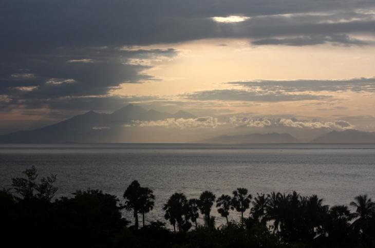 Looking across to Lombok